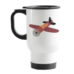Airplane Stainless Steel Travel Mug with Handle
