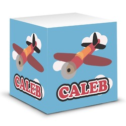Airplane Sticky Note Cube (Personalized)