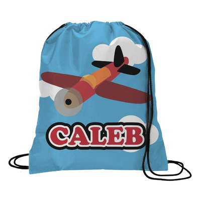 Airplane Drawstring Backpack (Personalized)