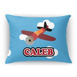 Airplane Rectangular Throw Pillow Case (Personalized)