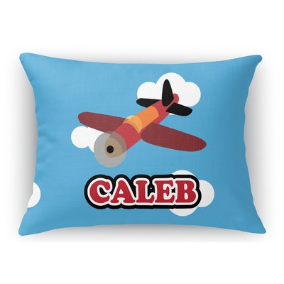 Airplane Rectangular Throw Pillow Case (Personalized)