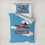 Airplane Toddler Bedding w/ Name or Text
