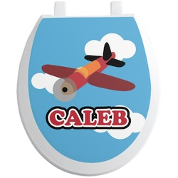 Airplane Toilet Seat Decal (Personalized)