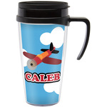 Airplane Travel Mug with Handle (Personalized)