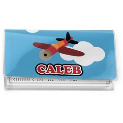 Airplane Vinyl Checkbook Cover (Personalized)
