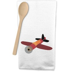 Airplane Waffle Weave Kitchen Towel (Personalized)