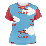 Airplane Women's Crew T-Shirt (Personalized)