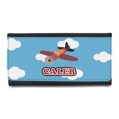 Airplane Leatherette Ladies Wallet (Personalized)