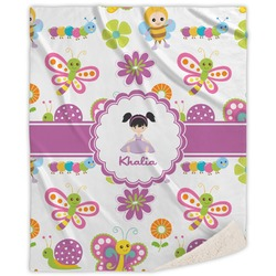 Butterflies Sherpa Throw Blanket (Personalized)