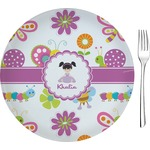 "Butterflies Glass Appetizer / Dessert Plates 8"" - Single or Set (Personalized)"