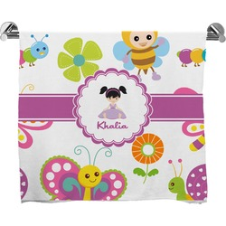 Butterflies Full Print Bath Towel (Personalized)