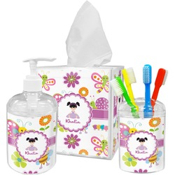 Butterflies Bathroom Accessories Set (Personalized)