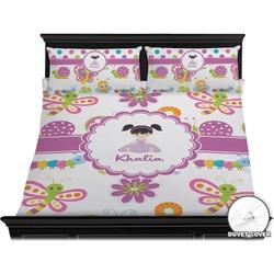 Butterflies Duvet Cover Set - King (Personalized)