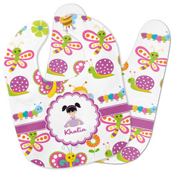 Butterflies Baby Bib w/ Name or Text
