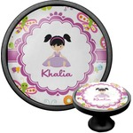 Butterflies Cabinet Knob (Black) (Personalized)
