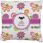 Butterflies Faux-Linen Throw Pillow (Personalized)