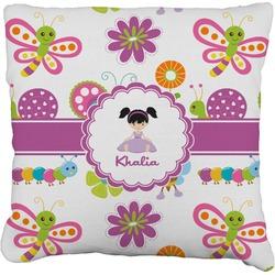 Butterflies Faux-Linen Throw Pillow (Personalized)