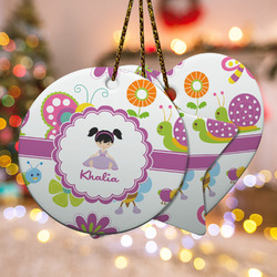 Butterflies Ceramic Ornament w/ Name or Text