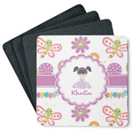 Butterflies 4 Square Coasters - Rubber Backed (Personalized)