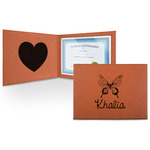 Butterflies Leatherette Certificate Holder (Personalized)