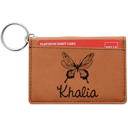 Butterflies Leatherette Keychain ID Holder (Personalized)