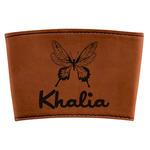 Butterflies Leatherette Mug Sleeve (Personalized)