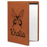 Butterflies Leatherette Portfolio with Notepad (Personalized)