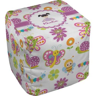 Butterflies Cube Pouf Ottoman (Personalized)