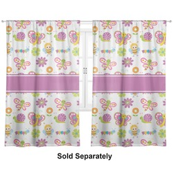 "Butterflies Curtains - 20""x63"" Panels - Unlined (2 Panels Per Set) (Personalized)"