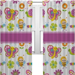 Butterflies Curtains (2 Panels Per Set) (Personalized)