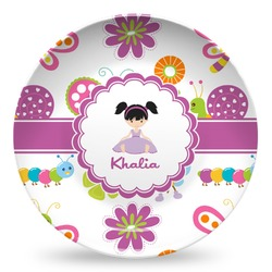 Butterflies Microwave Safe Plastic Plate - Composite Polymer (Personalized)