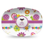 Butterflies Plastic Platter - Microwave & Oven Safe Composite Polymer (Personalized)