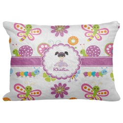 "Butterflies Decorative Baby Pillowcase - 16""x12"" (Personalized)"