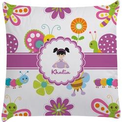 Butterflies Decorative Pillow Case (Personalized)