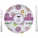 "Butterflies Glass Lunch / Dinner Plates 10"" - Single or Set (Personalized)"