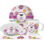 Butterflies Dinner Set - 4 Pc (Personalized)
