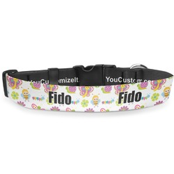 Butterflies Deluxe Dog Collar (Personalized)