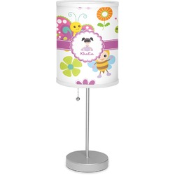 """Butterflies 7"""" Drum Lamp with Shade (Personalized)"""