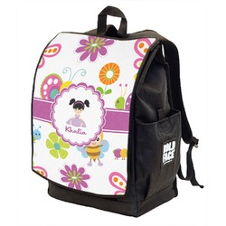 Butterflies Backpack w/ Front Flap  (Personalized)