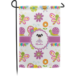 Butterflies Garden Flag - Single or Double Sided (Personalized)
