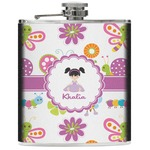 Butterflies Genuine Leather Flask (Personalized)