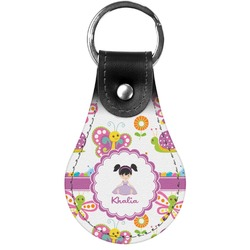 Butterflies Genuine Leather  Keychain (Personalized)