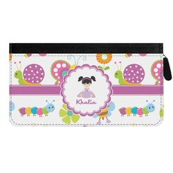 Butterflies Genuine Leather Ladies Zippered Wallet (Personalized)
