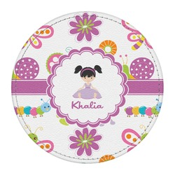 Butterflies Round Desk Weight - Genuine Leather  (Personalized)