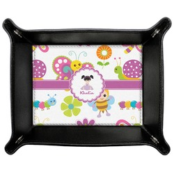 Butterflies Genuine Leather Valet Tray (Personalized)