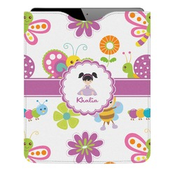 Butterflies Genuine Leather iPad Sleeve (Personalized)