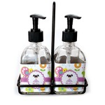 Butterflies Soap & Lotion Dispenser Set (Glass) (Personalized)