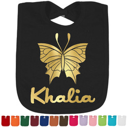 Butterflies Foil Toddler Bibs (Select Foil Color) (Personalized)
