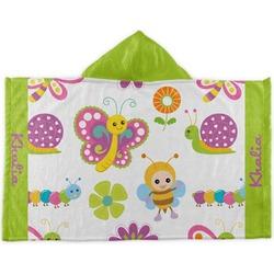 Butterflies Kids Hooded Towel (Personalized)