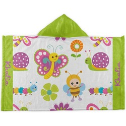 Butterflies Kids Hooded Towel (Personalized)